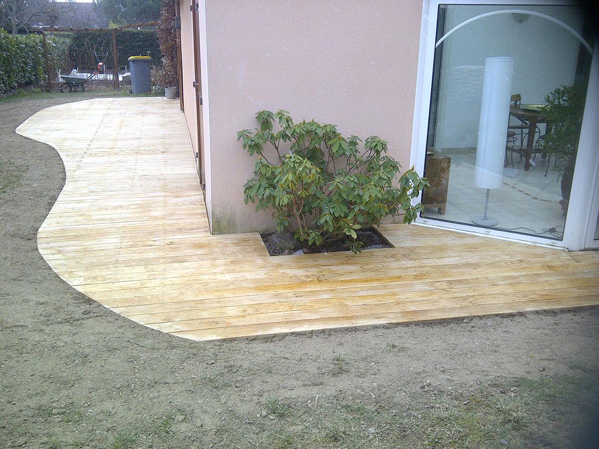 Lame en pin radiata - Traitement bois terrasse exterieur ...