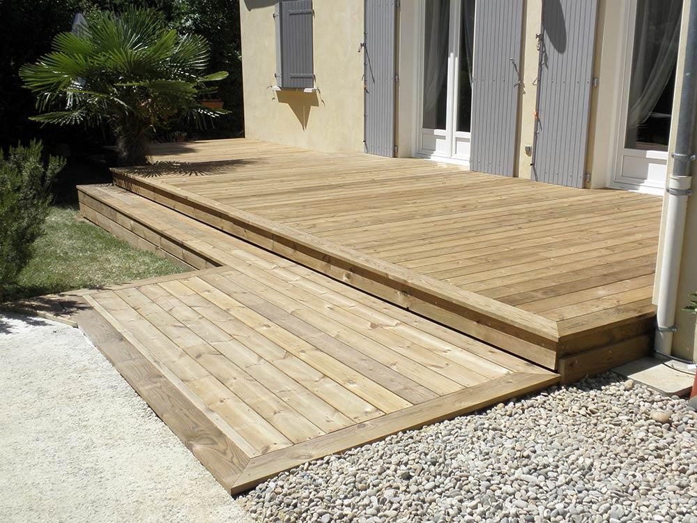 Lame Terrasse Bois Pin Sylvestre Traite Classe 4 - Bois pour laménagement dextérieur lames pour terrasse, bardages