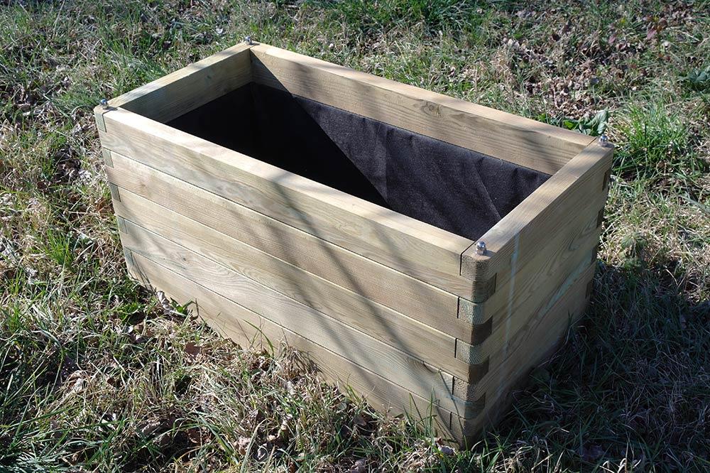 Jardini res bois - Fabrication jardiniere bois exterieur ...