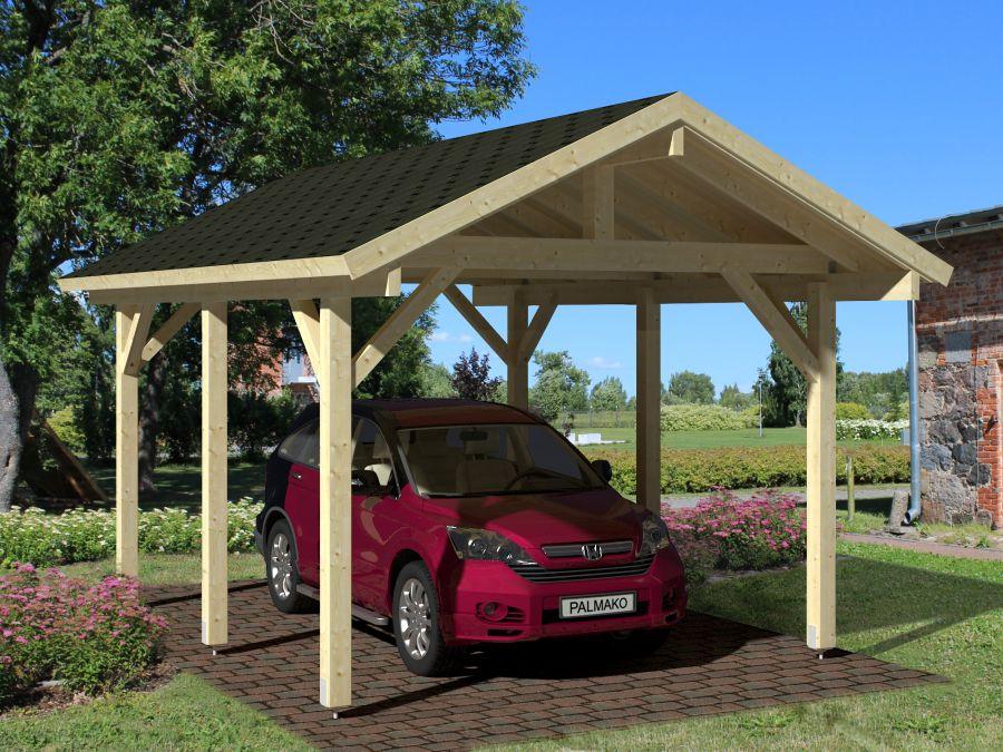 Abris et chalets de jardin for Garage en bois autoclave