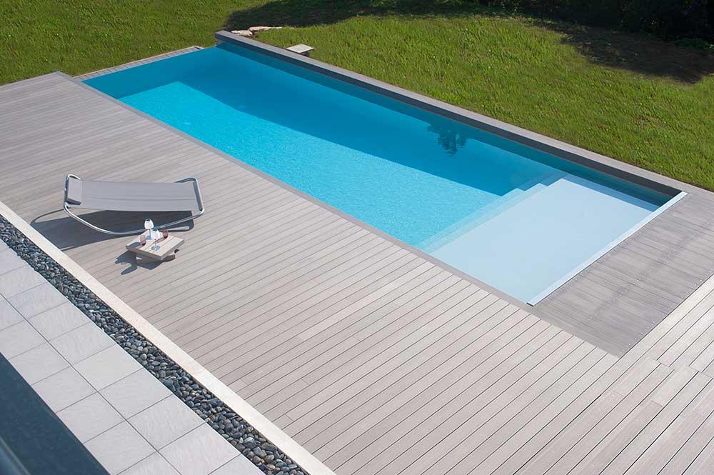 Bois pour l 39 am nagement d 39 ext rieur lames pour terrasse for Plancher bois piscine exterieur