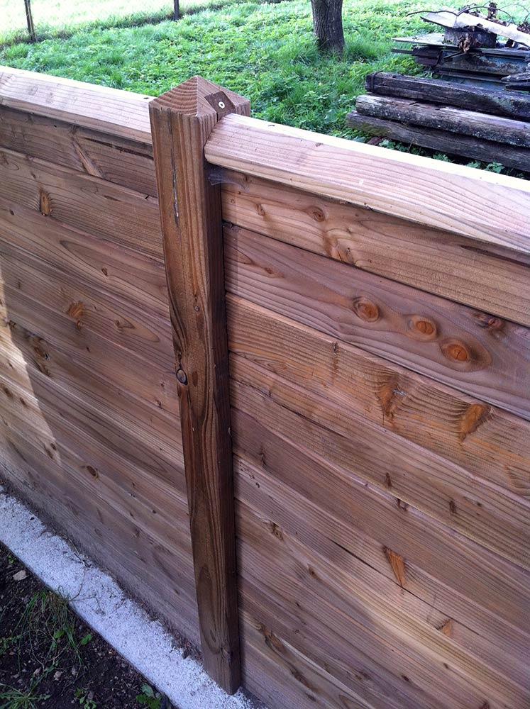 Panneaux modulables douglas for Panneaux bois exterieur